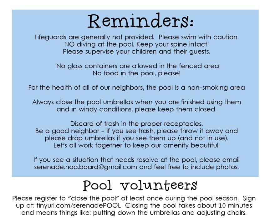 2016 Pool Rules