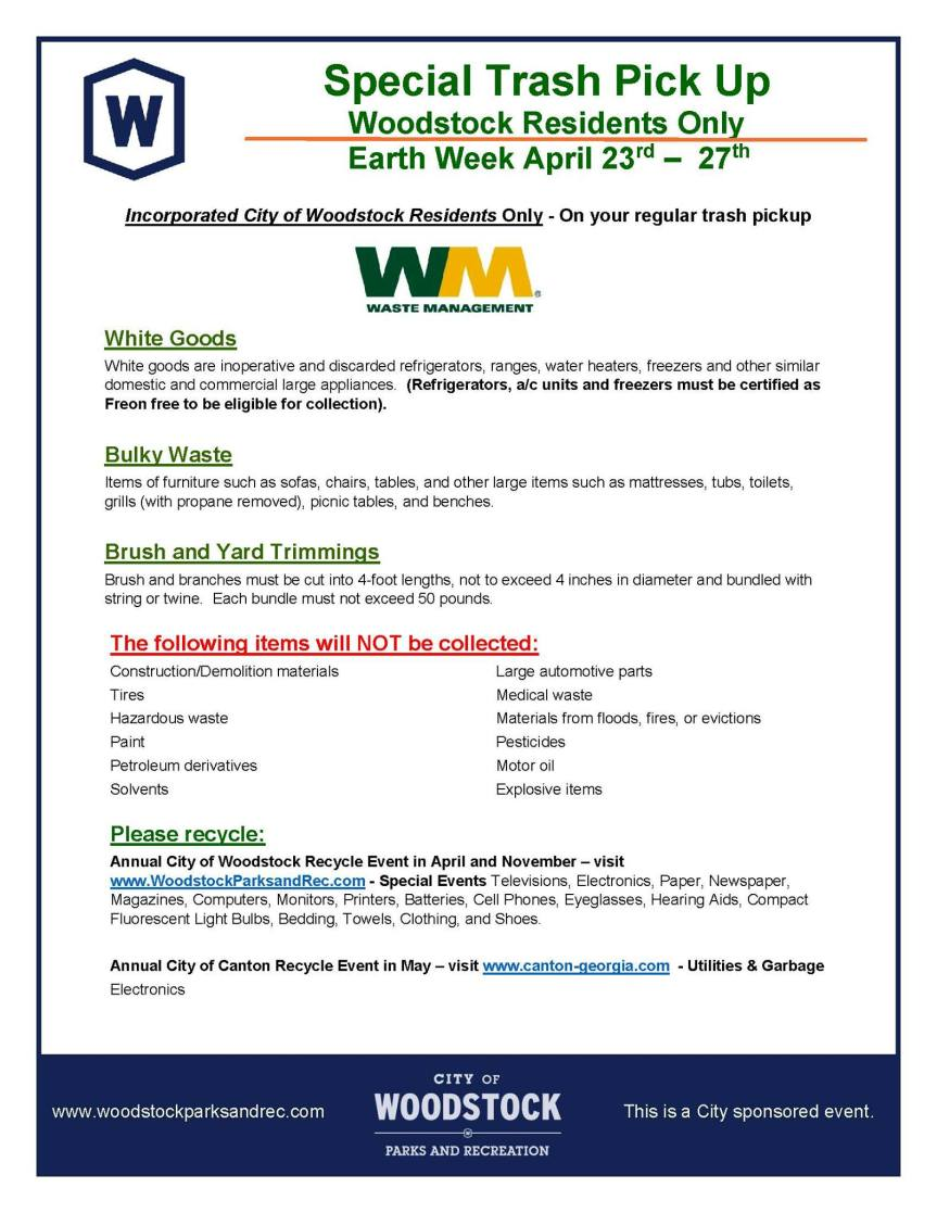 earth week trash