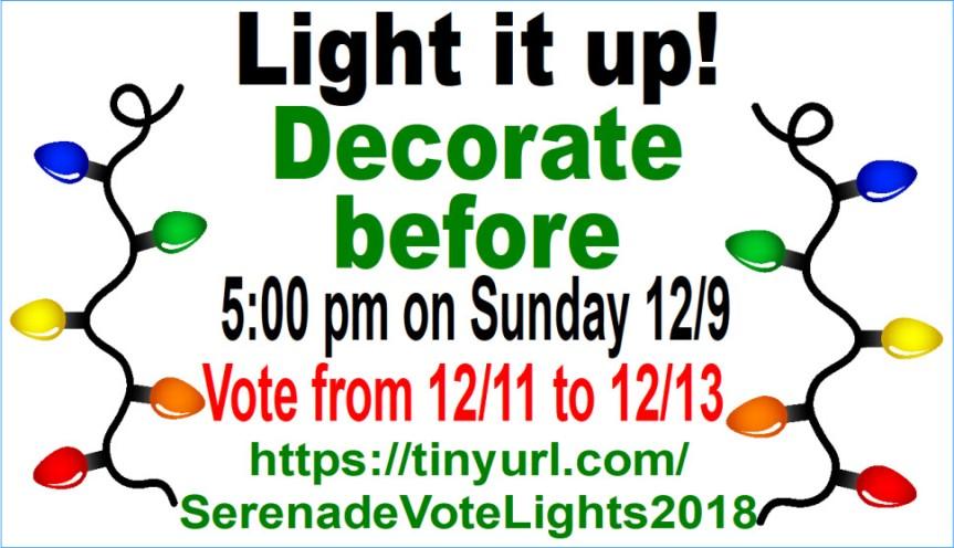 12-6-2018 Serenade - Light it up
